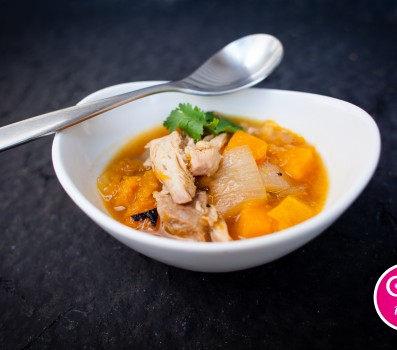 Roasted Chicken and Butternut Squash Soup