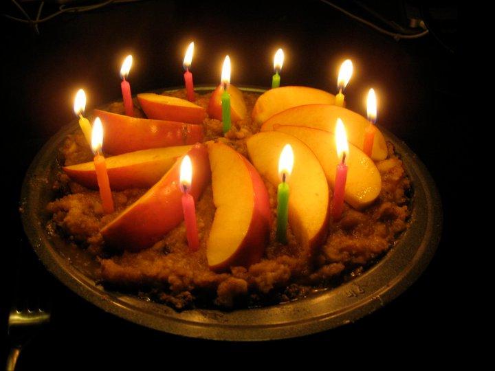 Raw Apple Pie - Birthday Celebration