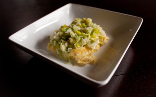 Paleo Buttery Eggs and Leeks