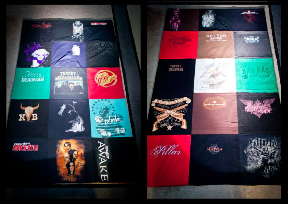 Marla Sarris T-shirt Quilt Front and Back