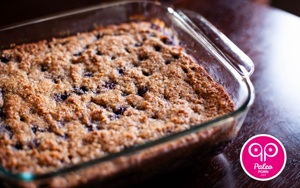 Paleo Recipe Primal Blueberry-Hazelnut Breakfast Cake Crumble