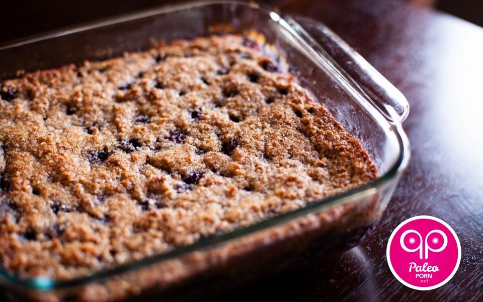 Paleo Recipe Primal Blueberry-Hazelnut Breakfast Cake Crumble