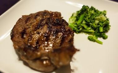 Ribeye Steak and Steamed Broccoli
