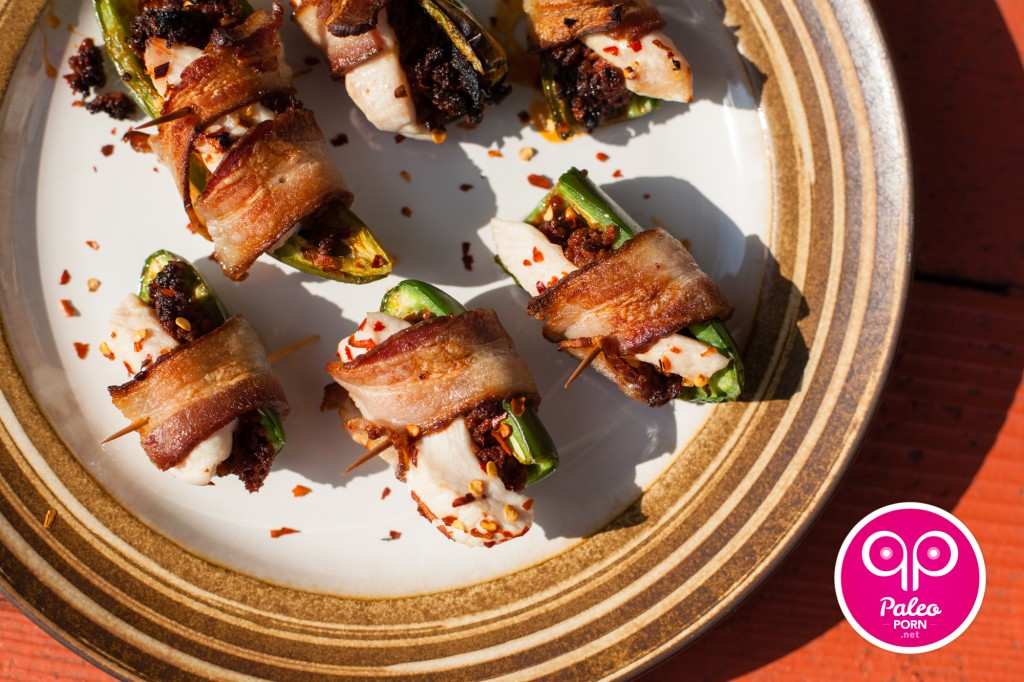 Paleo Bacon Wrapped Jalapeño Poppers Recipe