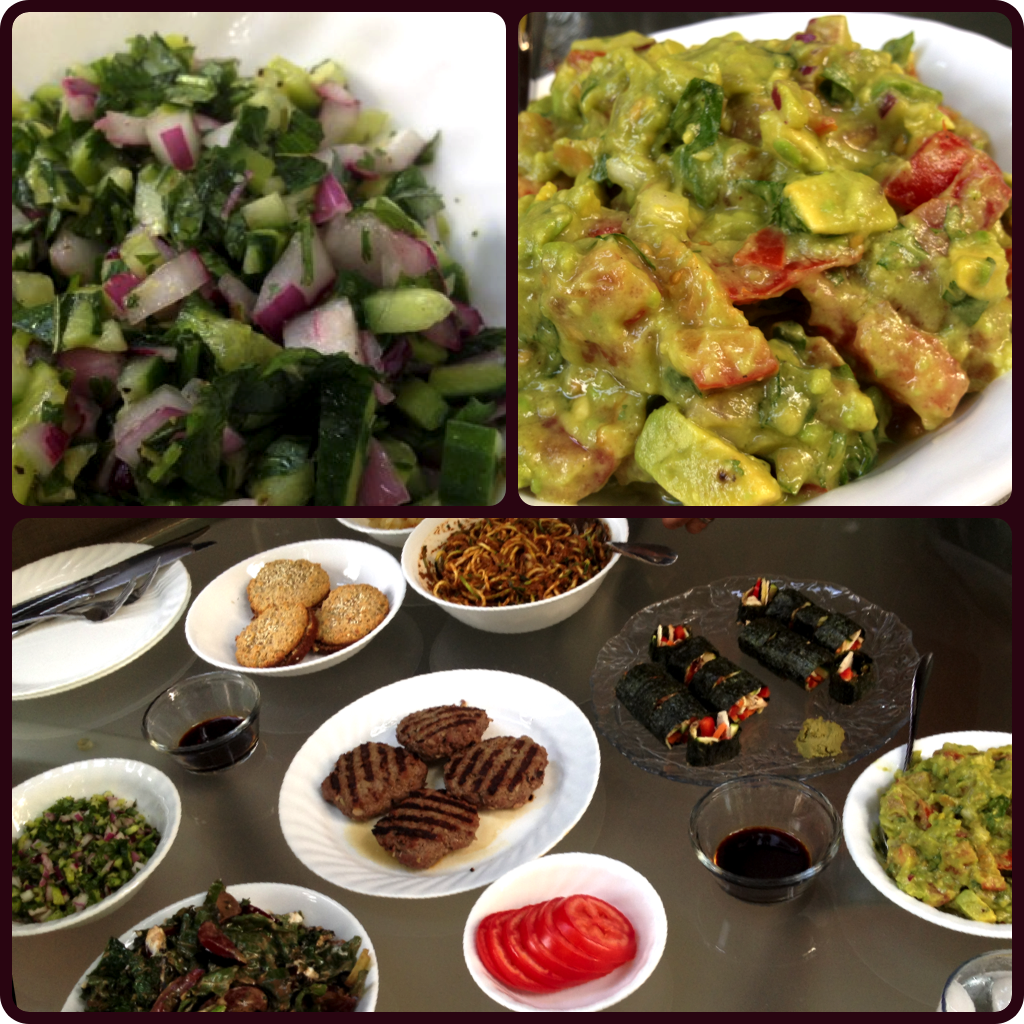Cucumber Salad and Orange Guacamole