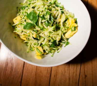 Sweet and Spicy Zucchini Slaw