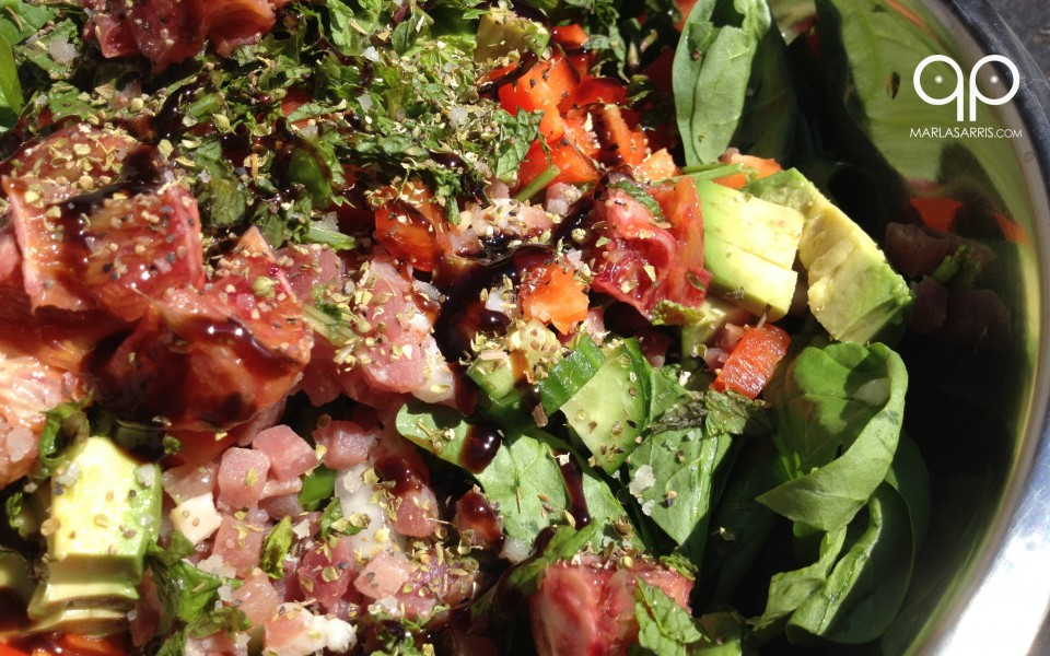 Blood Red Spinach Salad Marla Sarris Paleo Porn