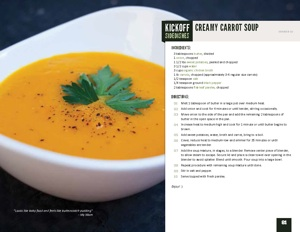 Game Day Recipe: Creamy Carrot Soup