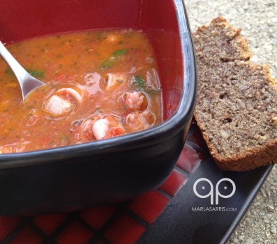 Seafood Sofrito with Paleo Bread