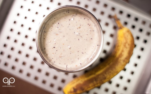 Coconut Banana Berry Smoothie