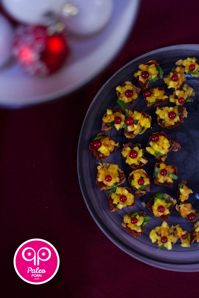 Crispy Prosciutto Fruit Cups