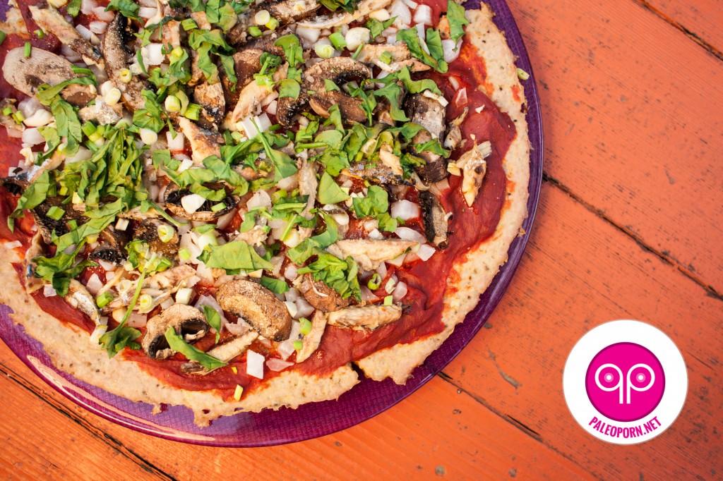 Mushroom Mackerel Meatza Recipe