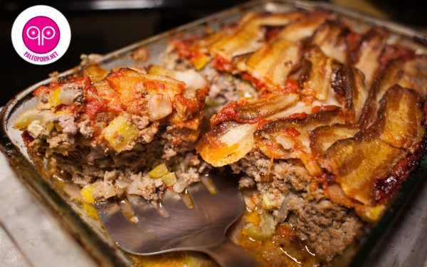 Paleo Meatloaf with Bison and Bacon