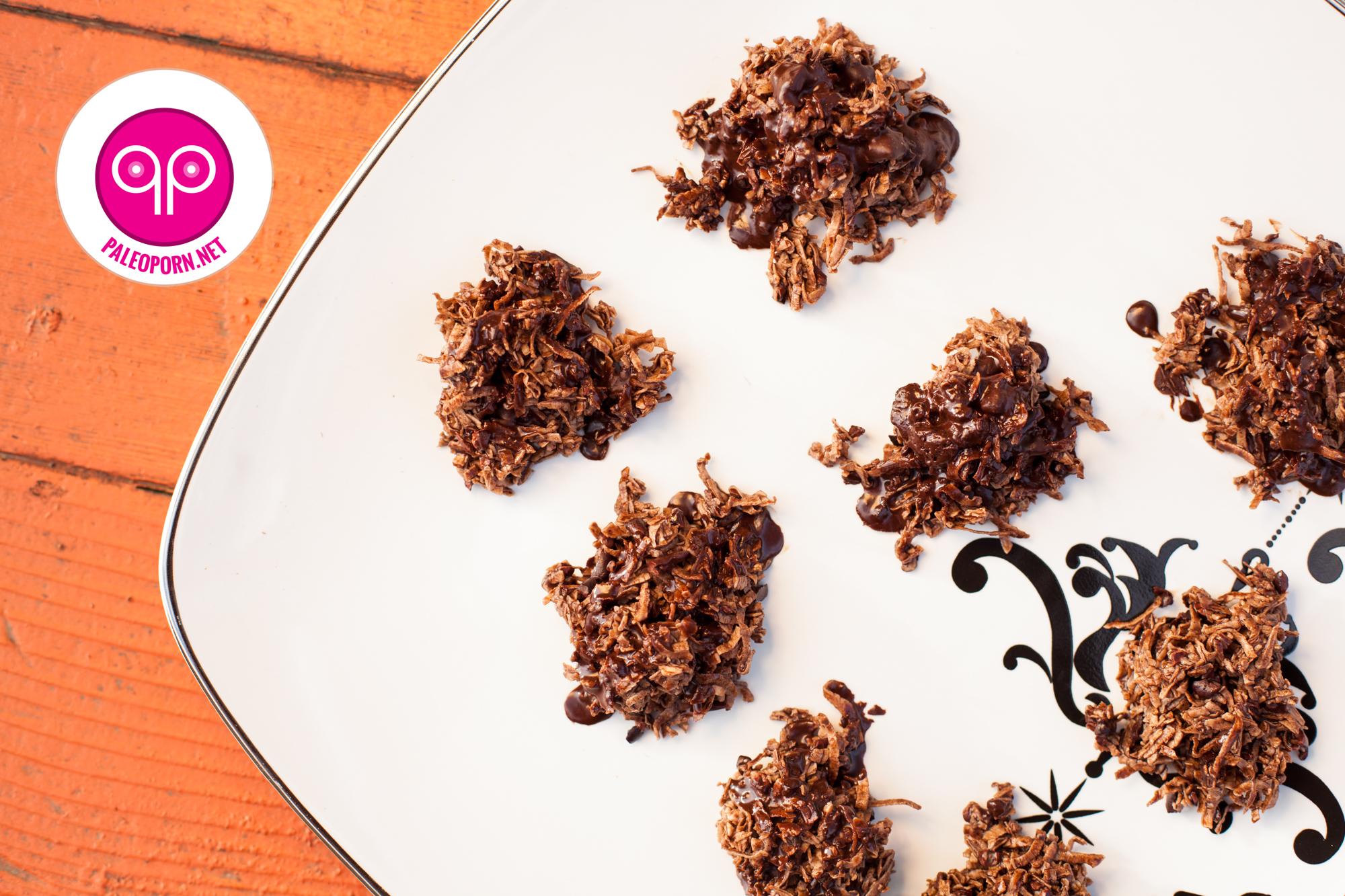 Paleo Chocolate Coconut Haystacks