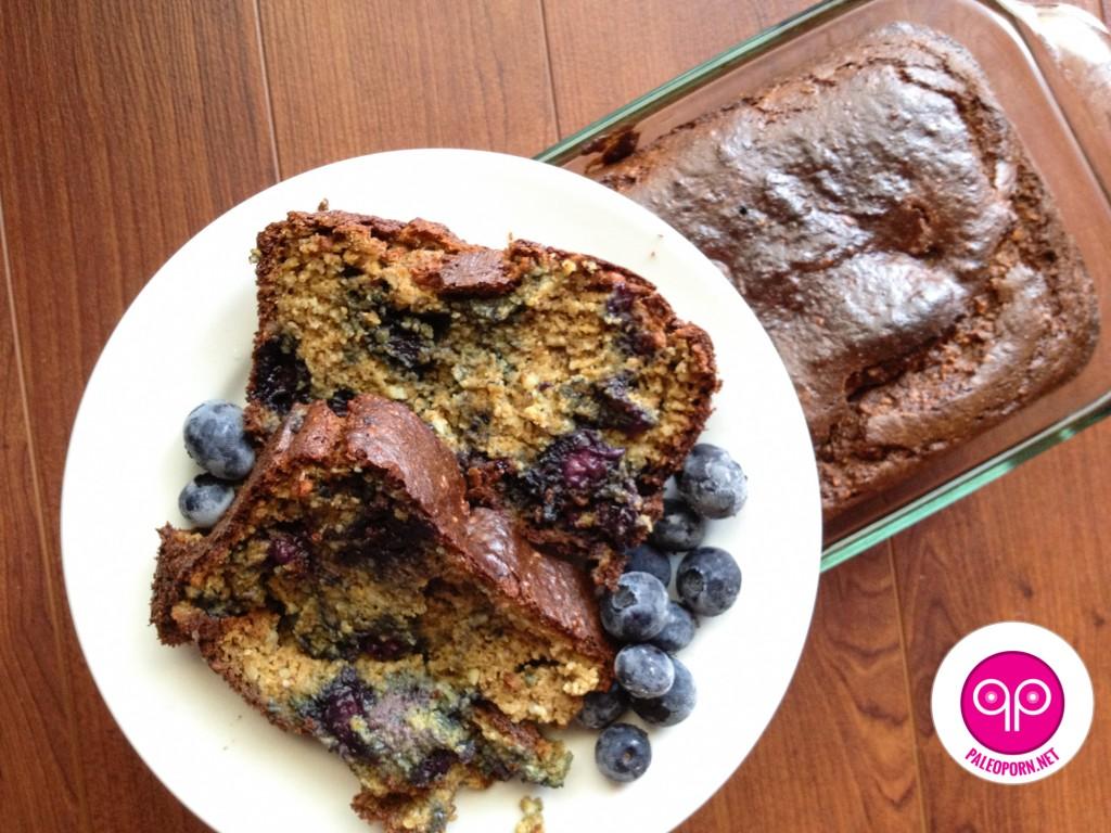 Paleo Pumpkin Blueberry Bread