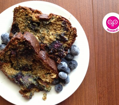 Paleo Pumpkin Blueberry Bread