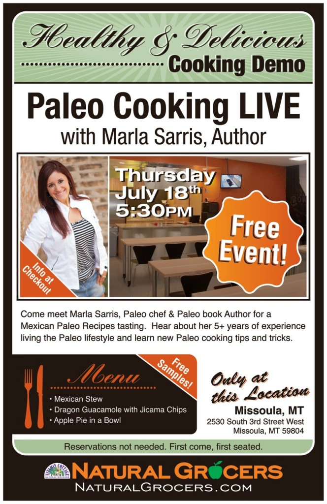 Marla Sarris Paleo Cooking Live at Natural Grocers