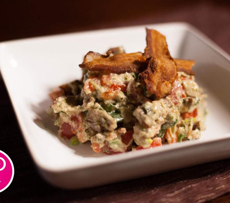 Paleo Bacon Lettuce and Pesto Salad