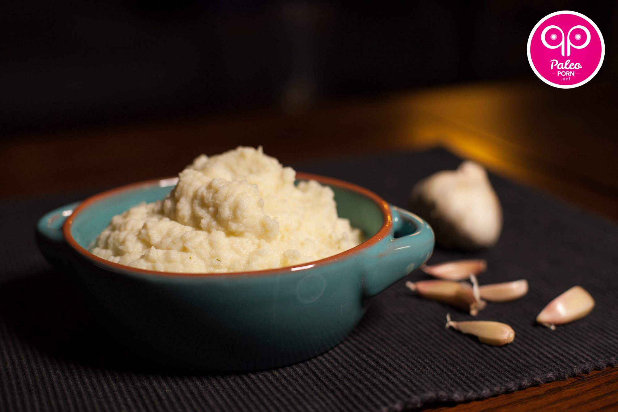 Paleo Garlic Mashed Cauliflower