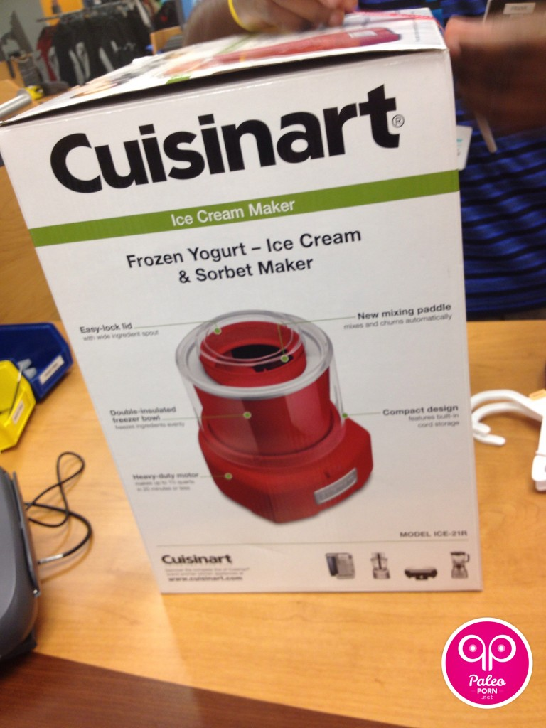 Cuisinart Cherry Red Ice Cream Maker Paleo Porn