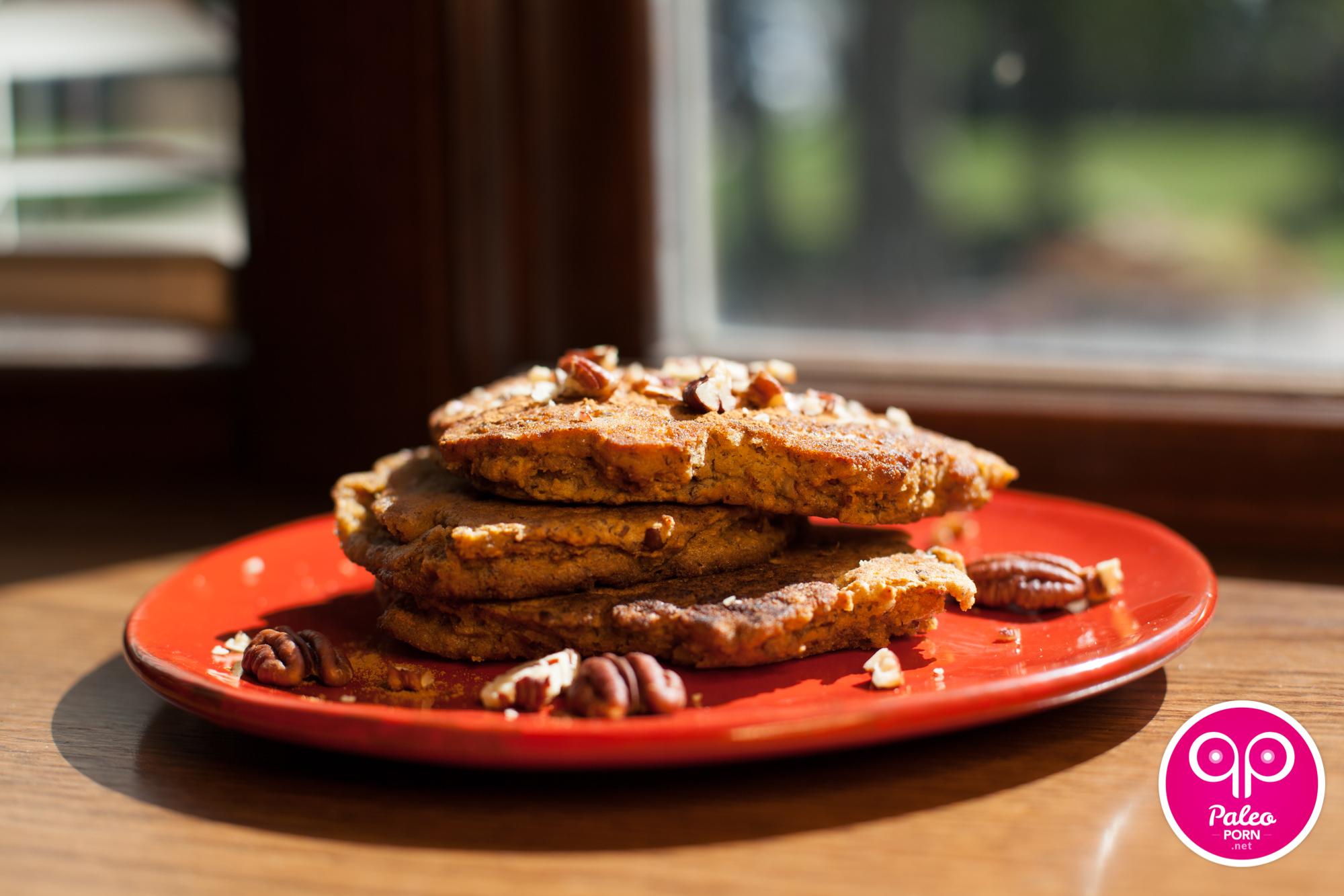 Pecan Flax Paleo Pancakes