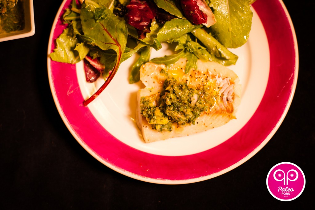Alaskan Pacific Cod Filet with Orange Mint Sauce