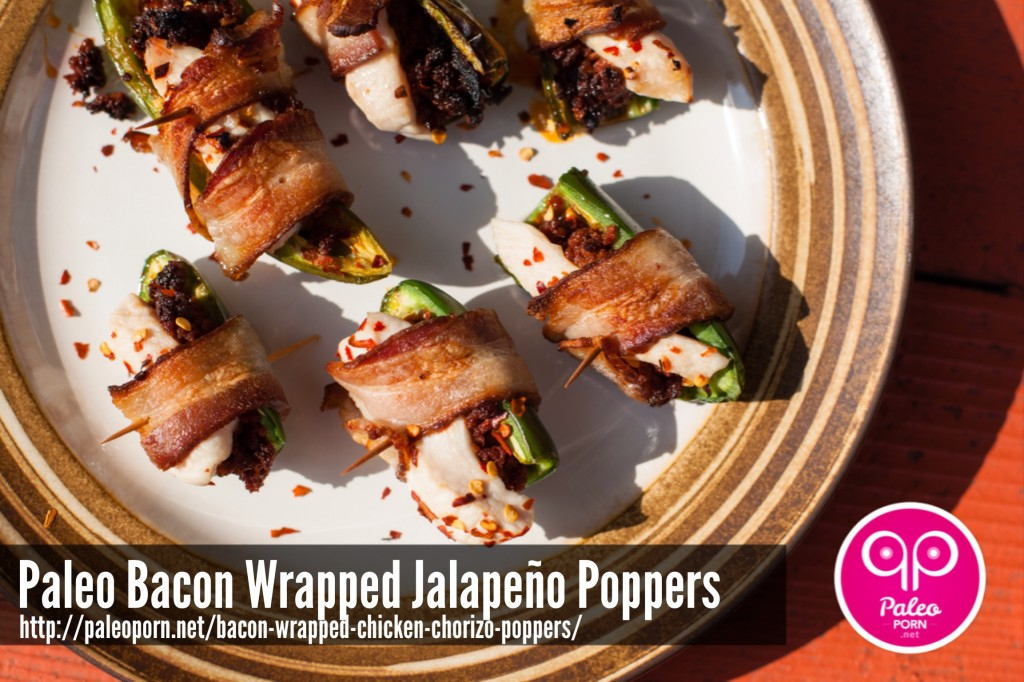 Bacon Wrapped Paleo Jalapeno Popppers