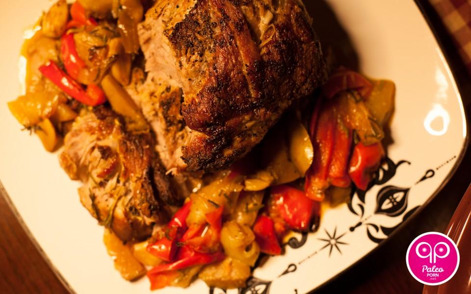 Braised Pork and Pears