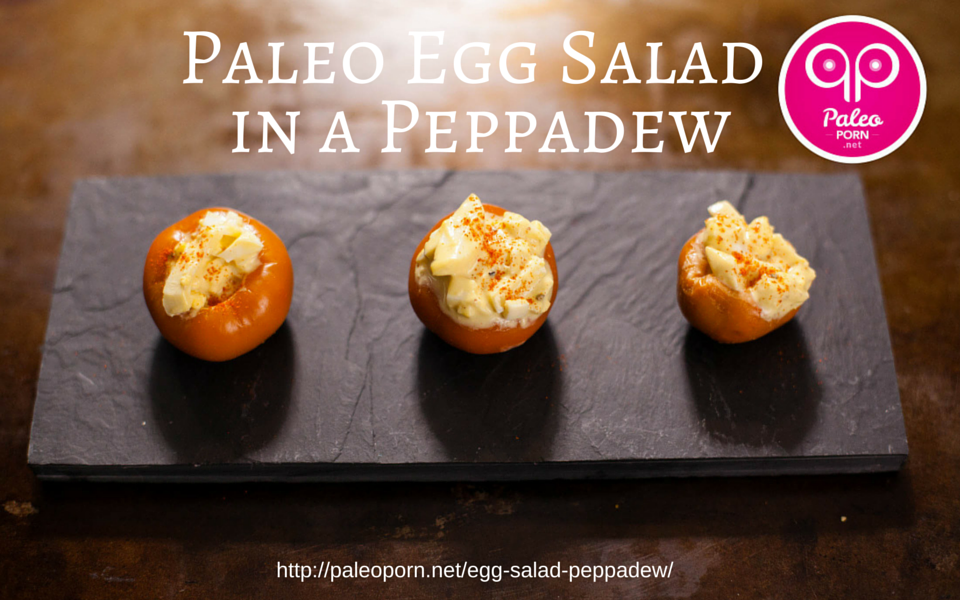 Egg Salad in a Peppadew for Paleo Thanksgiving Roundup Menu