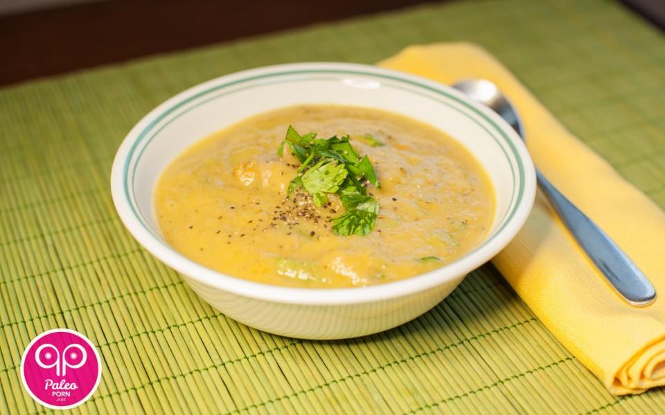 Eggplant Lamb Paleo Soup