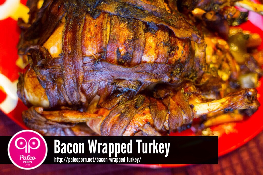 Paleo Bacon Wrapped Turkey