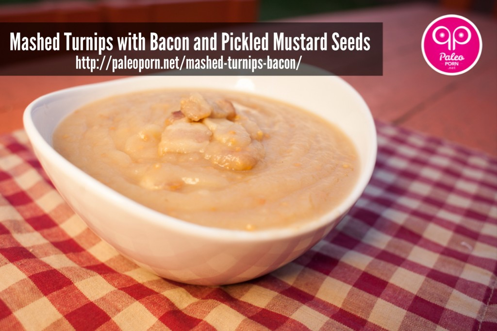 Paleo Mashed Parsnips with Bacon