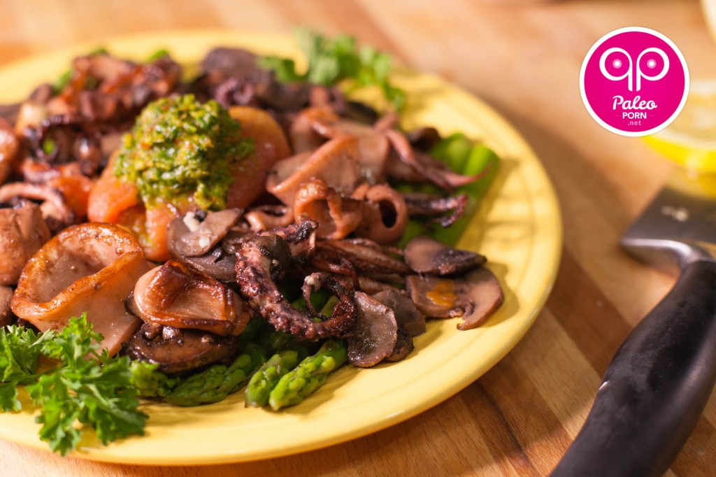 Paleo Grilled Octopus