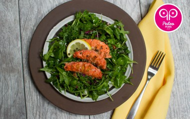 Arugula Salad with Sockeye Salmon