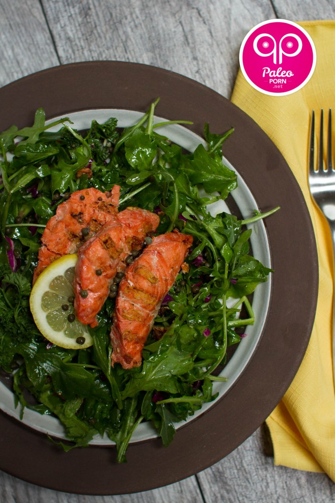 Arugula Salad with Sockeye Salmon