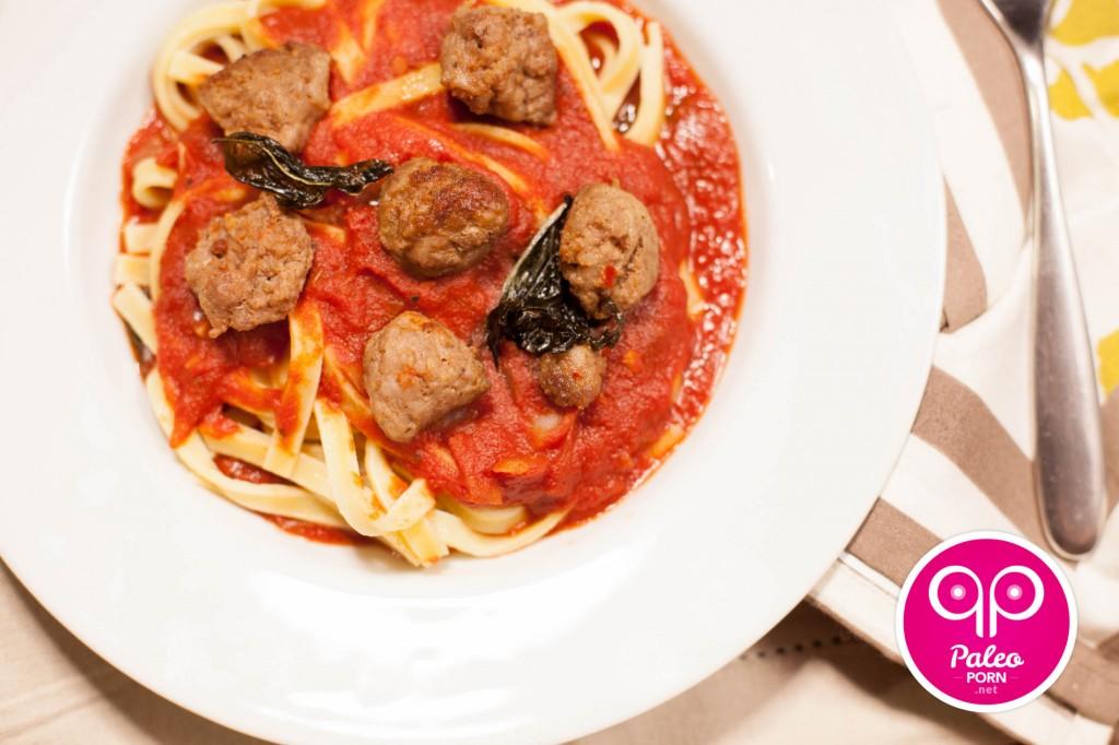 Paleo Fettuccine with Italian Sausage