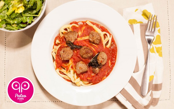 Paleo Fettuccine with Italian Sausage