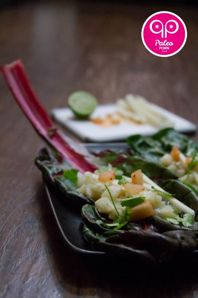 Paleo Fish Tacos with Kimchi