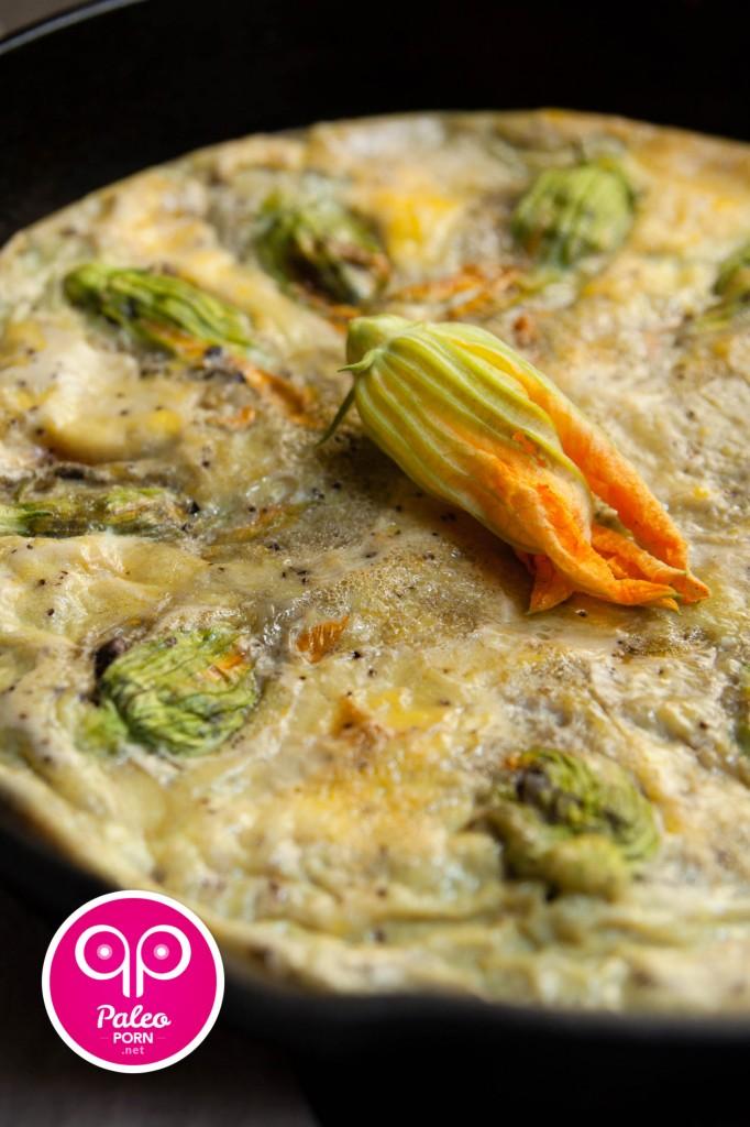 Stuffed Squash Blossom Paleo Frittata