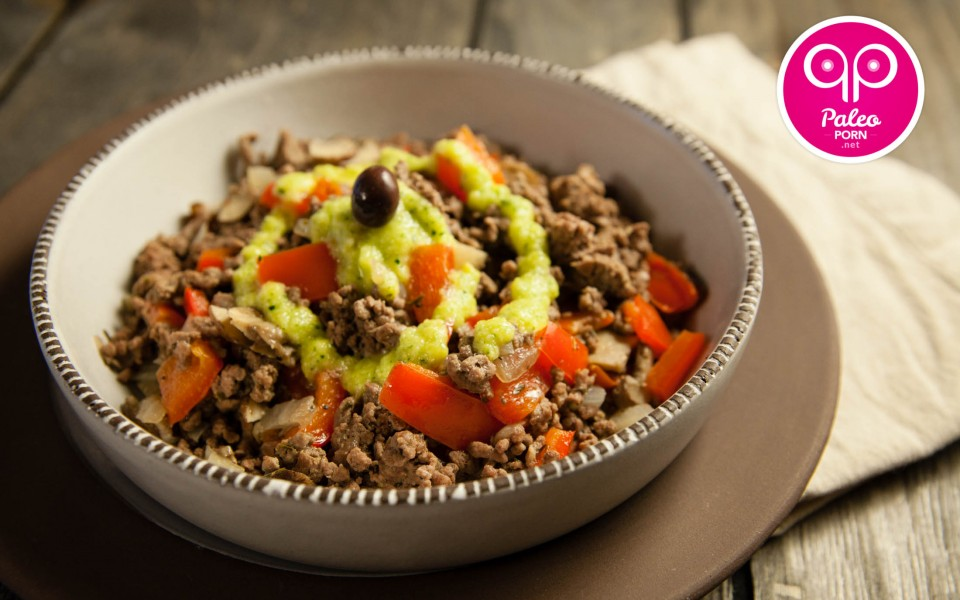 Paleo Recipe Lamburger in a Bowl