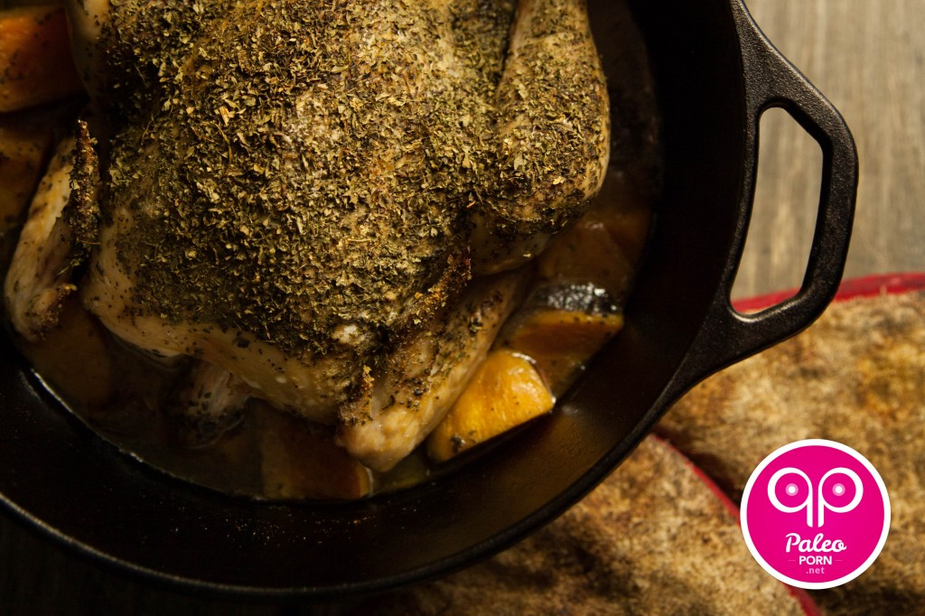 Dutch Oven Herbed Whole Chicken