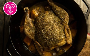 Paleo Recipe Dutch Oven Herbed Whole Chicken