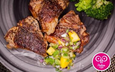 Paleo Recipe Lamb Chops with Minted Mango Chutney
