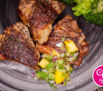Paleo Recipe Lamb Chops with Minted Mango Chutney