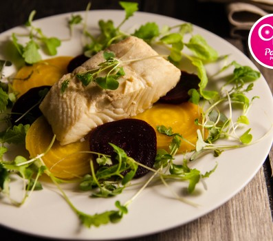 Paleo Recipe Poached Halibut with Beets
