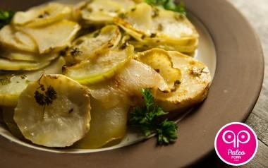 Paleo Recipe Scalloped Kohlrabi with Parsley