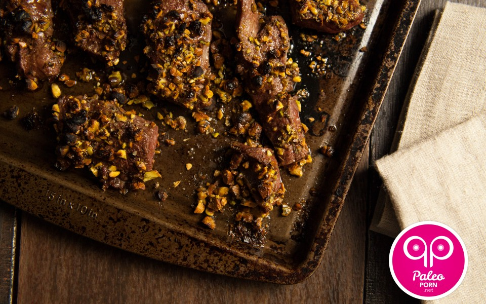 Paleo Recipe Pistachio Crusted Beef Heart