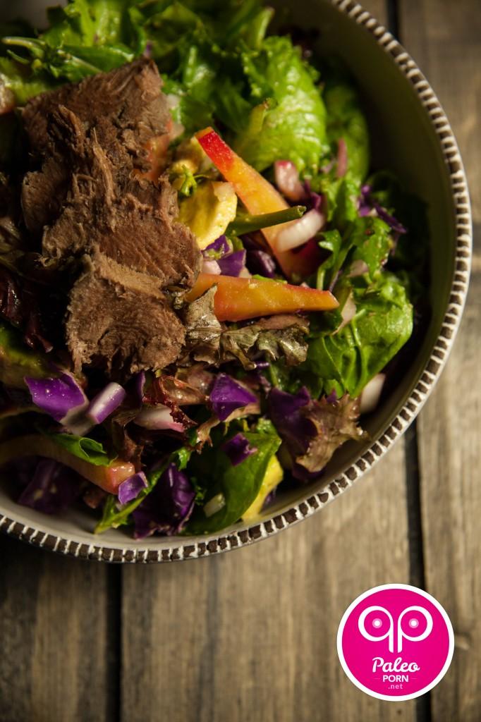 Poached Pig Tongue Salad