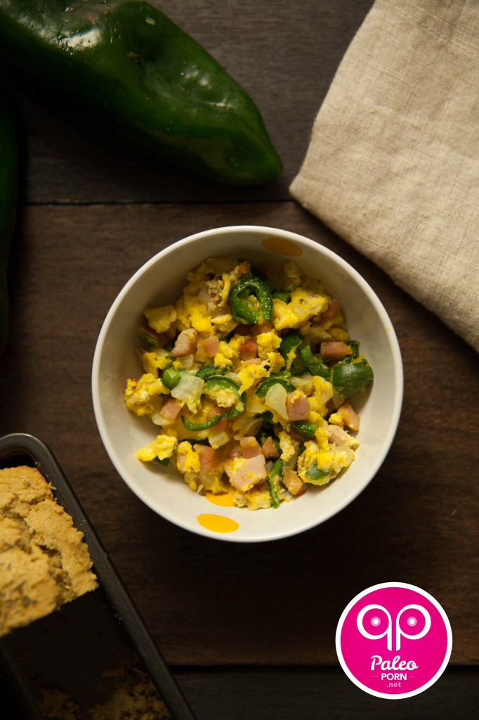 Poblano Paleo Breakfast Scramble