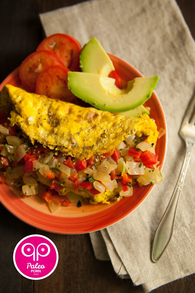 Paleo Omelet with Red Pepper
